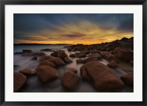 Framed Water and Rocks 8 Print