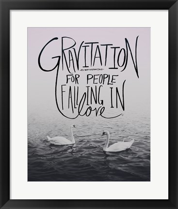 Framed Gravitation Print