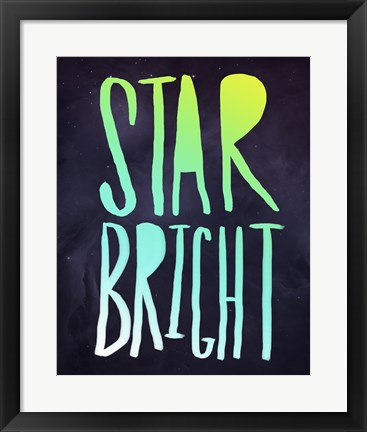 Framed Star Bright Print