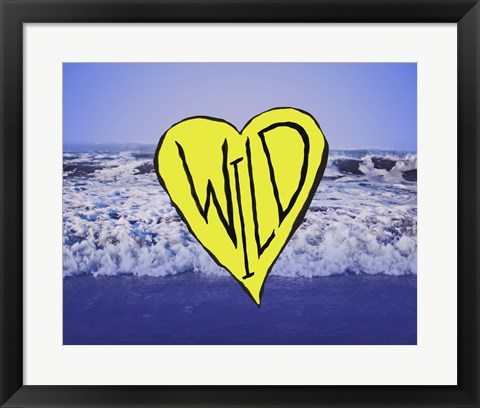 Framed Wild Heart Waves Art Print