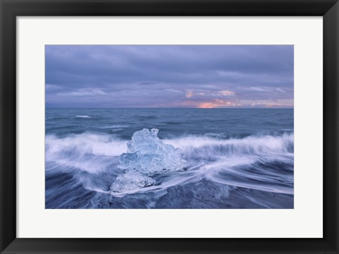 Framed Diamond in the Surf Print