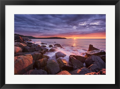 Framed Acadia Rocks Print