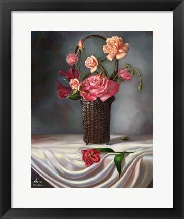 Framed Flower Still Life Print