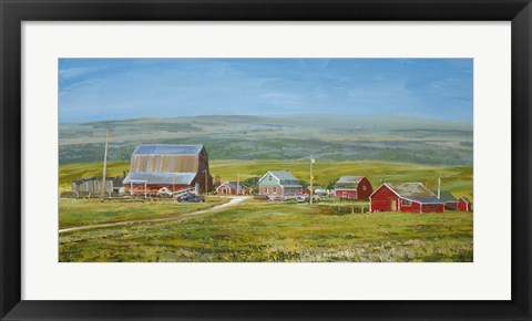 Framed Cypress Hills Farm Print
