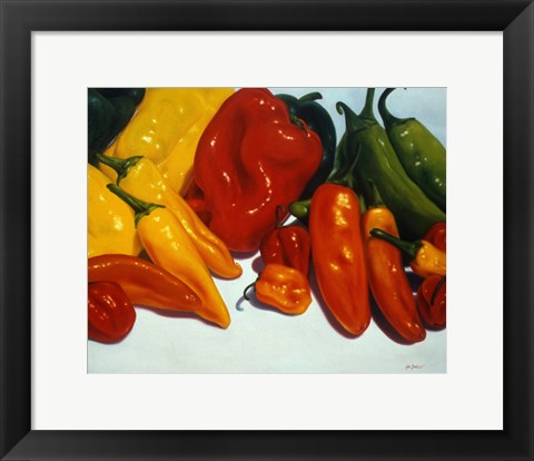 Framed All Kinds of Peppers Print