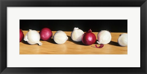 Framed Parade of Onions Print