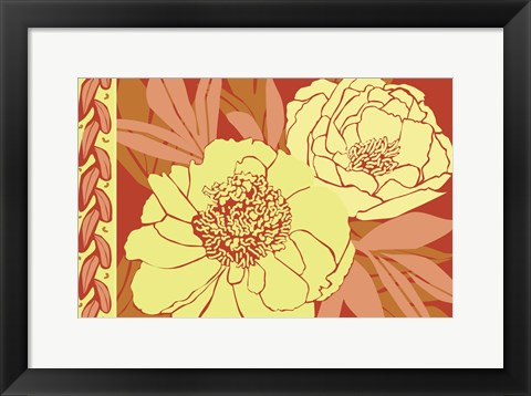 Framed Color Bouquet II Print