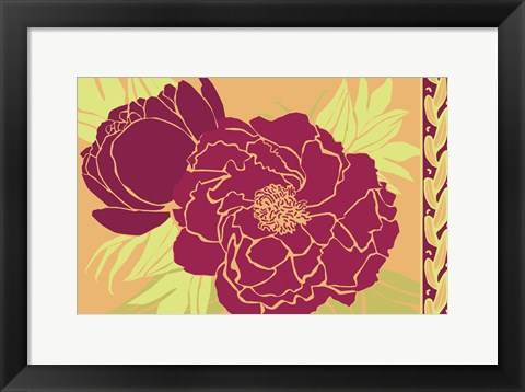 Framed Color Bouquet III Print