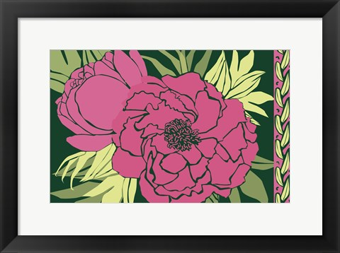 Framed Color Bouquet IV Print