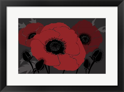 Framed Beautes Rouges II Print