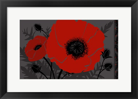 Framed Beautes Rouges III Print