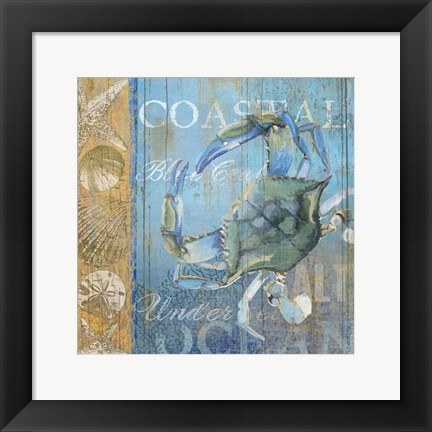 Framed Crab and Sea Print