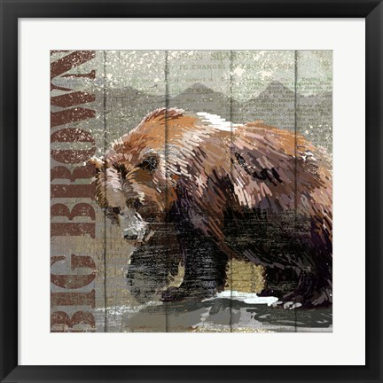 Framed Open Season Bear Print