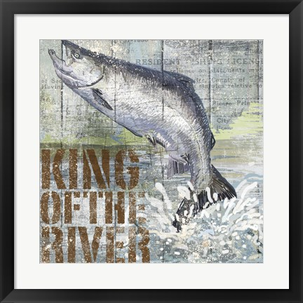 Framed Open Season King Salmon Print
