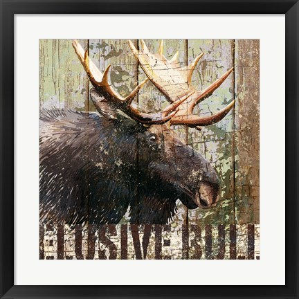Framed Open Season Moose Print