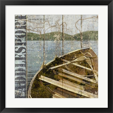 Framed Open Season Row Boat Print