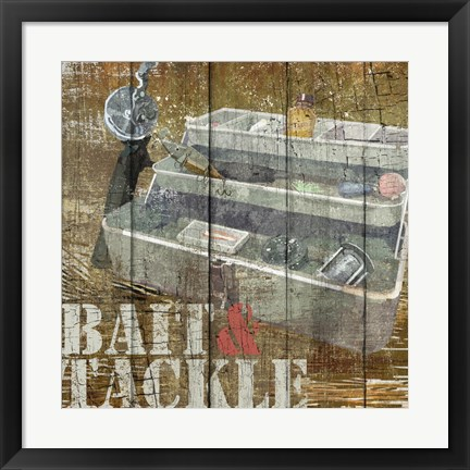 Framed Open Season Tackle Print