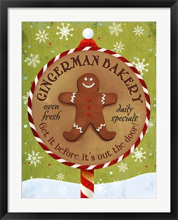 Framed Gingerman Bakery Print