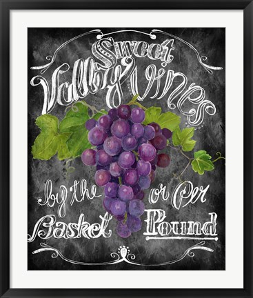 Framed Sweet Valley Vines Print