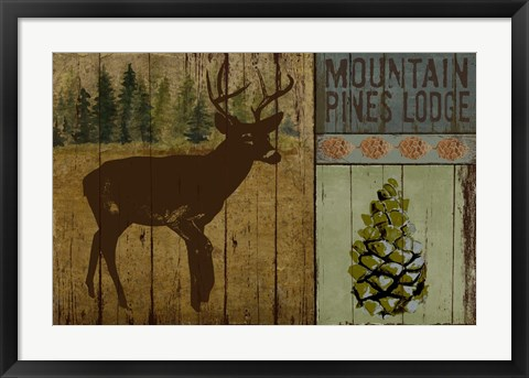Framed Pines and Oaks III Print