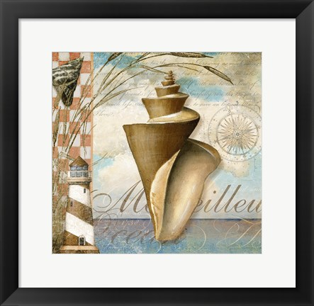Framed Shell Dreams 1 Print