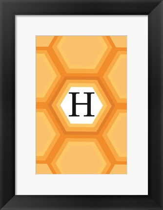 Framed Initials Pattern H Print