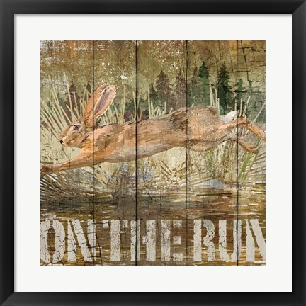 Framed Rabbit on the Run Print