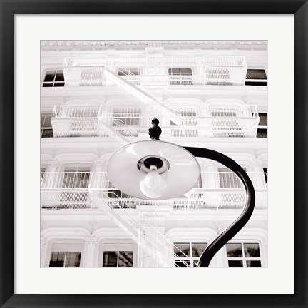 Framed White Facade Print