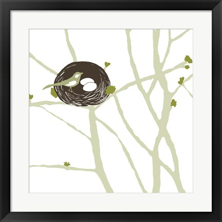 Framed Feathers and Twigs Print