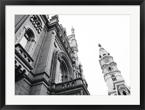 Framed City Hall (Angle) Print