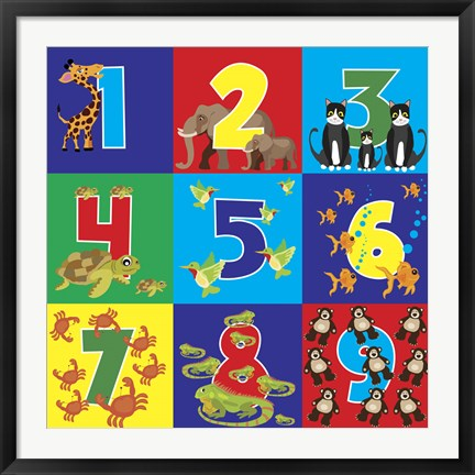 Framed Number Puzzle Print