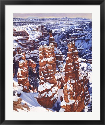 Framed Turned to Stone Bryce Print