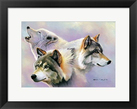 Framed Wolves are Forever Print