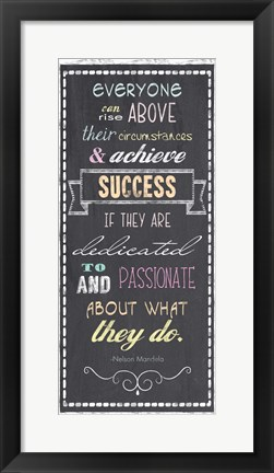 Framed Achieve Success - Nelson Mandela Quote Print