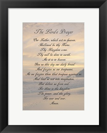 Framed Lord's Prayer - Sunset Print