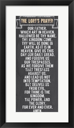 Framed Lord's Prayer - Chalkboard Style Print