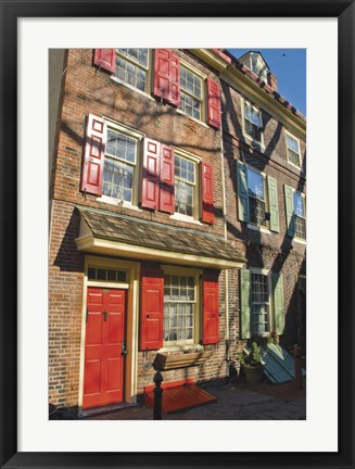 Framed Elfreth's Alley Print