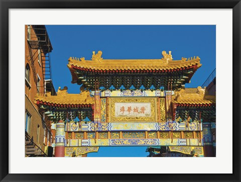 Framed Chinatown Arch Print