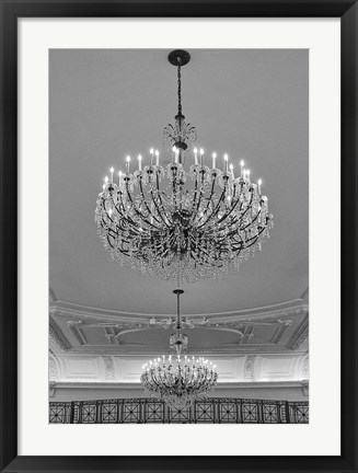 Framed Chandeliers Print