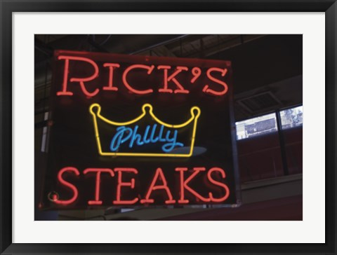 Framed Rick's Philly Steaks Print
