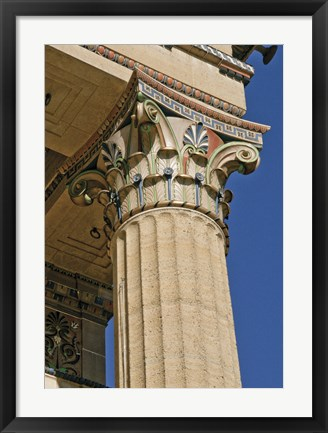 Framed Corinthian Column III (Color) Print