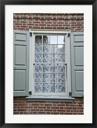 Framed Lace Curtain (Color) Print