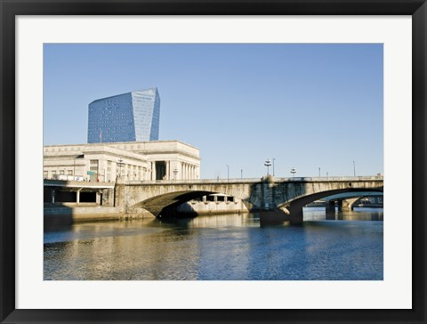 Framed River View (Color) Print