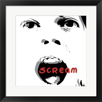 Framed Scream Print