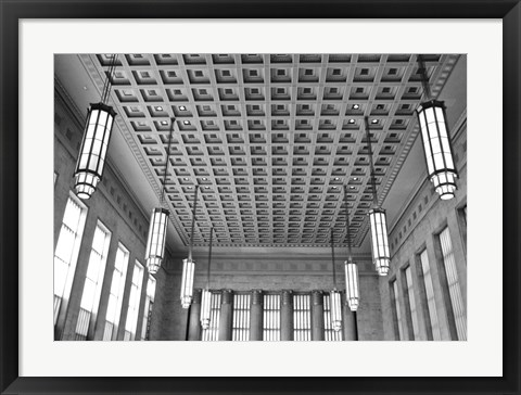 Framed Train Station Detail (b/w) Print