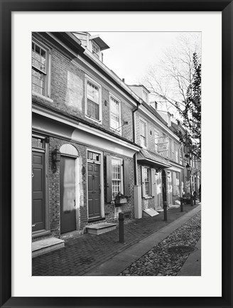 Framed Red Row II (b/w) Print