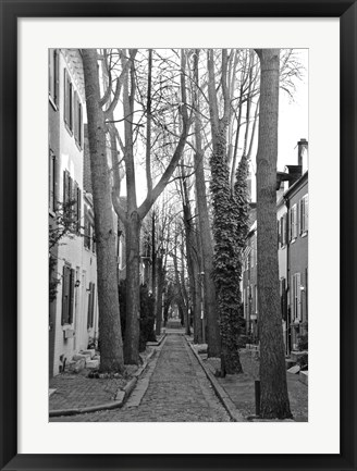 Framed Brick Road (b/w) Print