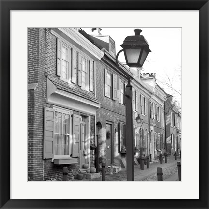 Framed Red Row I (b/w) Print