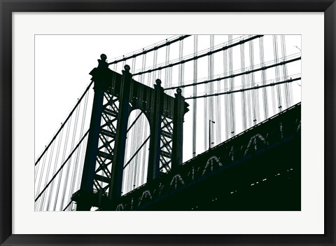 Framed Manhattan Bridge Silhouette Print