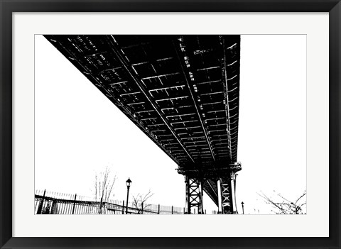 Framed Beneath the Span Silhouette) Print